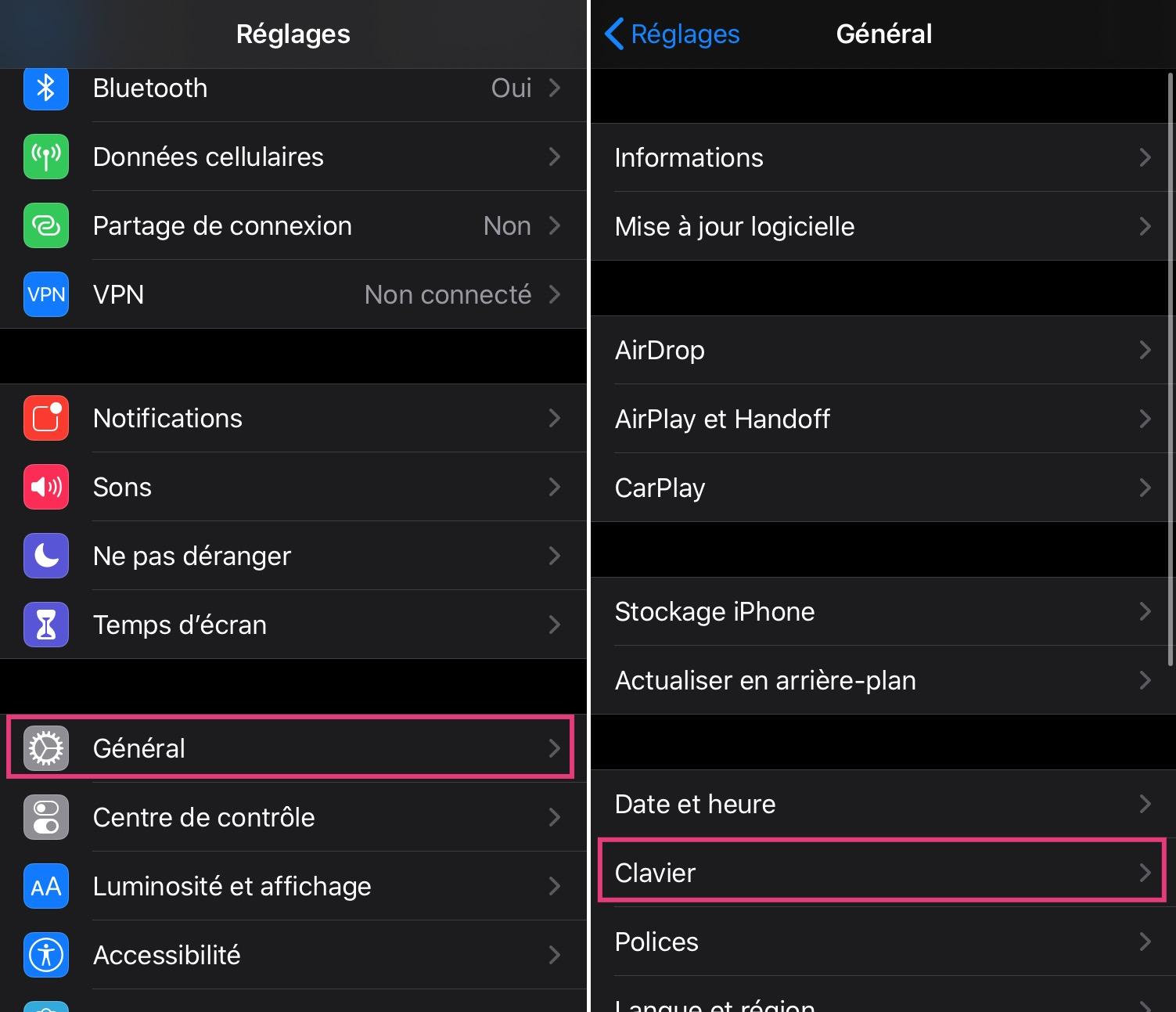 Astuce iPhone/iPad raccourci clavier