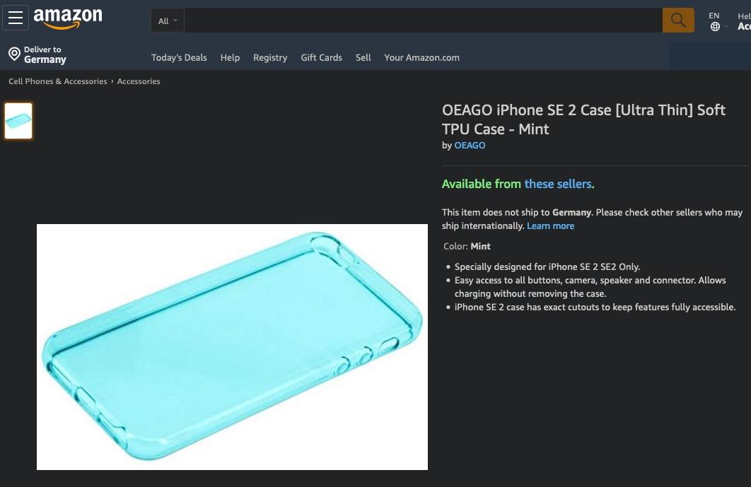 Amazon Coque iPhone SE 2