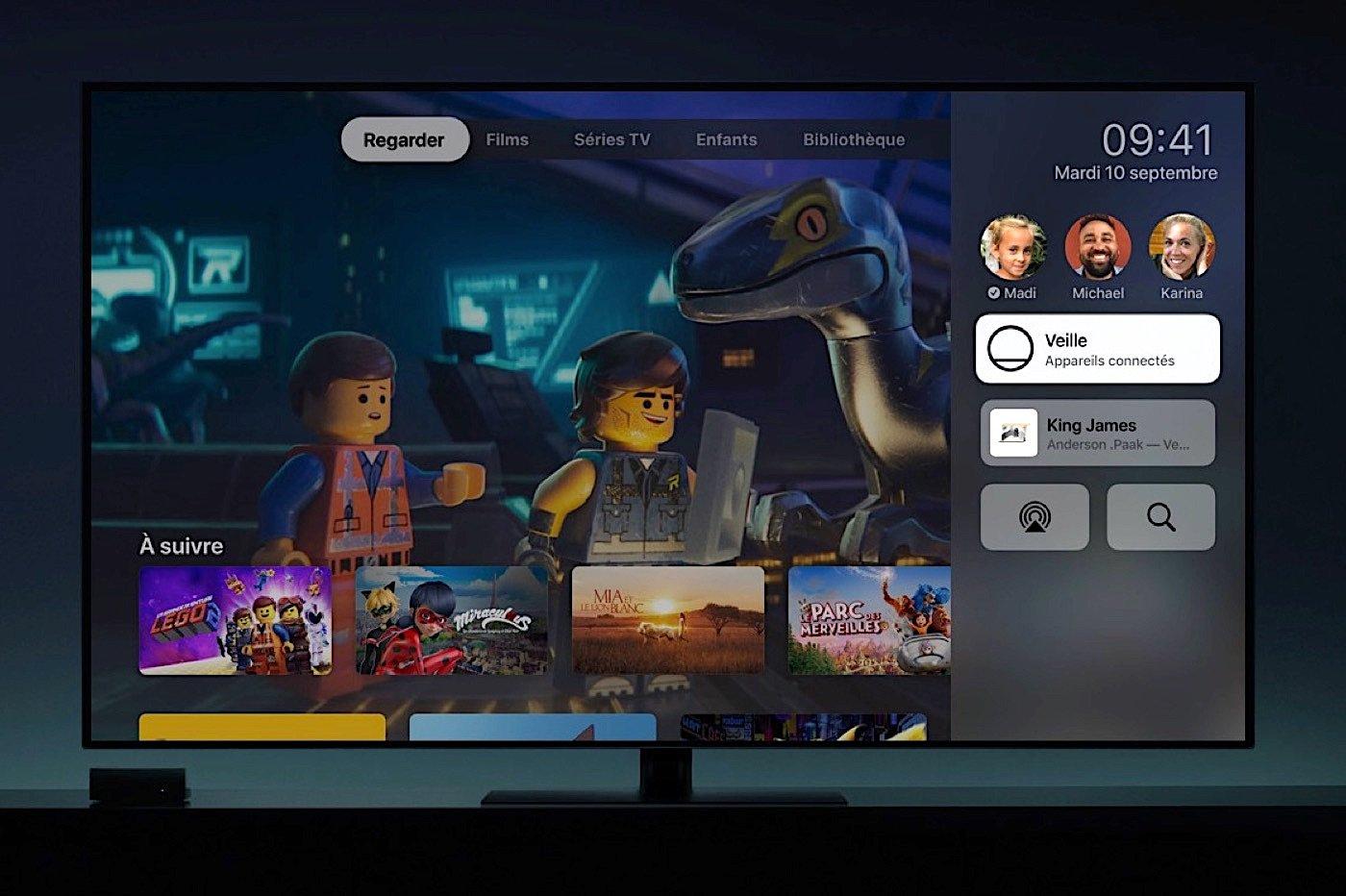 Apple TV et télévision