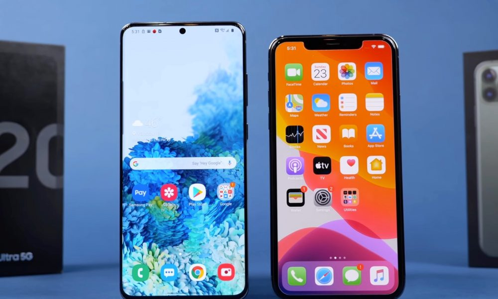 Duel Galaxy S20 Ultra vs iPhone 11 Pro Max