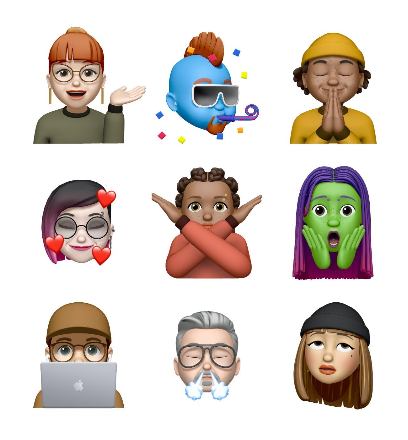 Memojis iOS 13.4