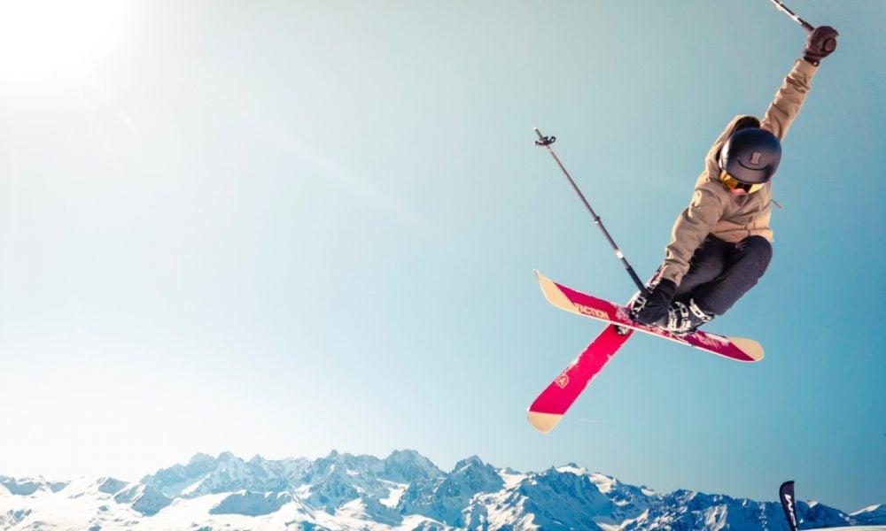 Saut ski et neige