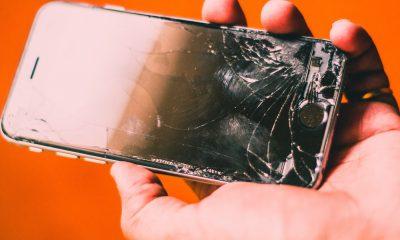 écran iPhone cassé