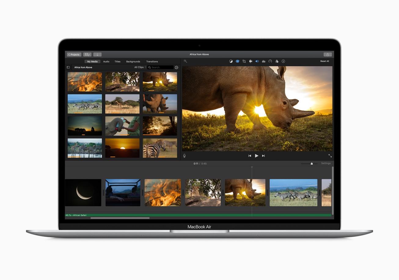 MacBook Air 2020 dalle 13,3 pouces