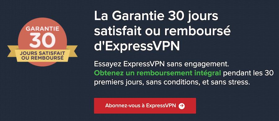 ExpressVPN garantie