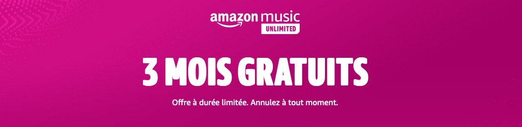 Amazon Music Unlimited 3 mois