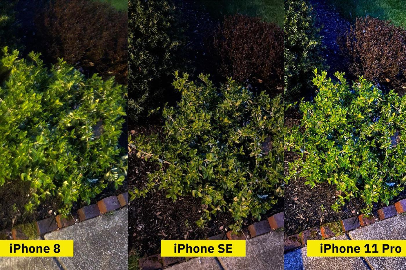 Comparatif photo iPhone
