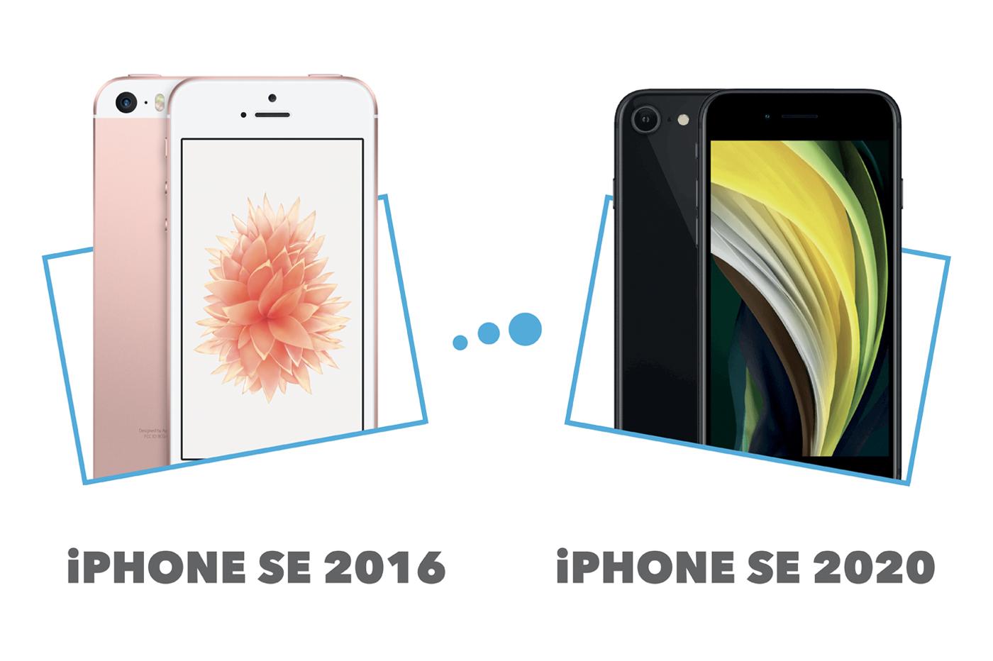 Comparatif iPhone SE 2016 vs iPhone SE 2020