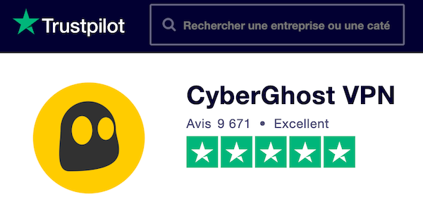 Avis Trustpilot CyberGhost