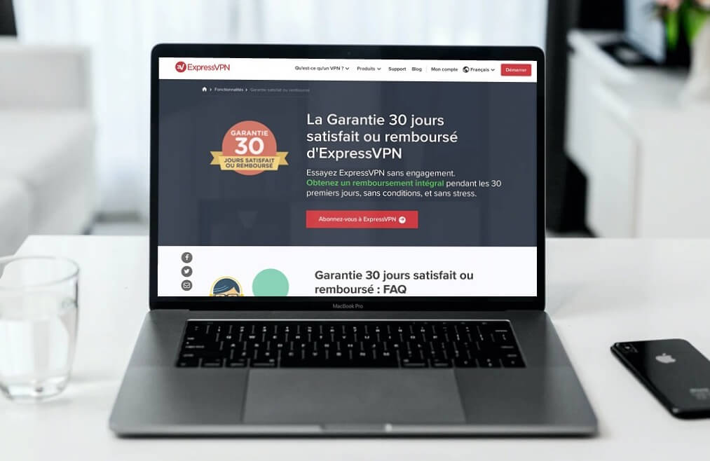 Garantie satisfait rembourse ExpressVPN