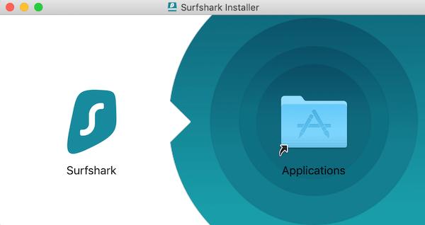 Installation application Surfshark