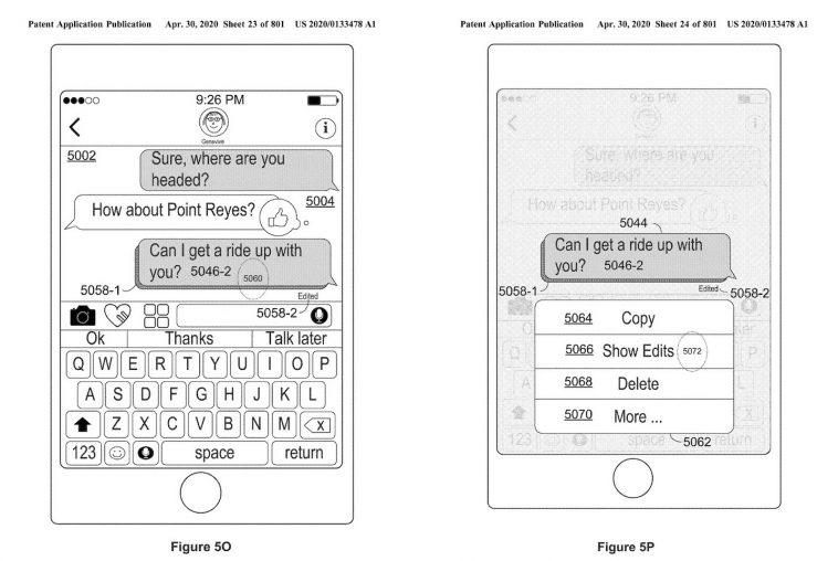iMessage Apple brevet