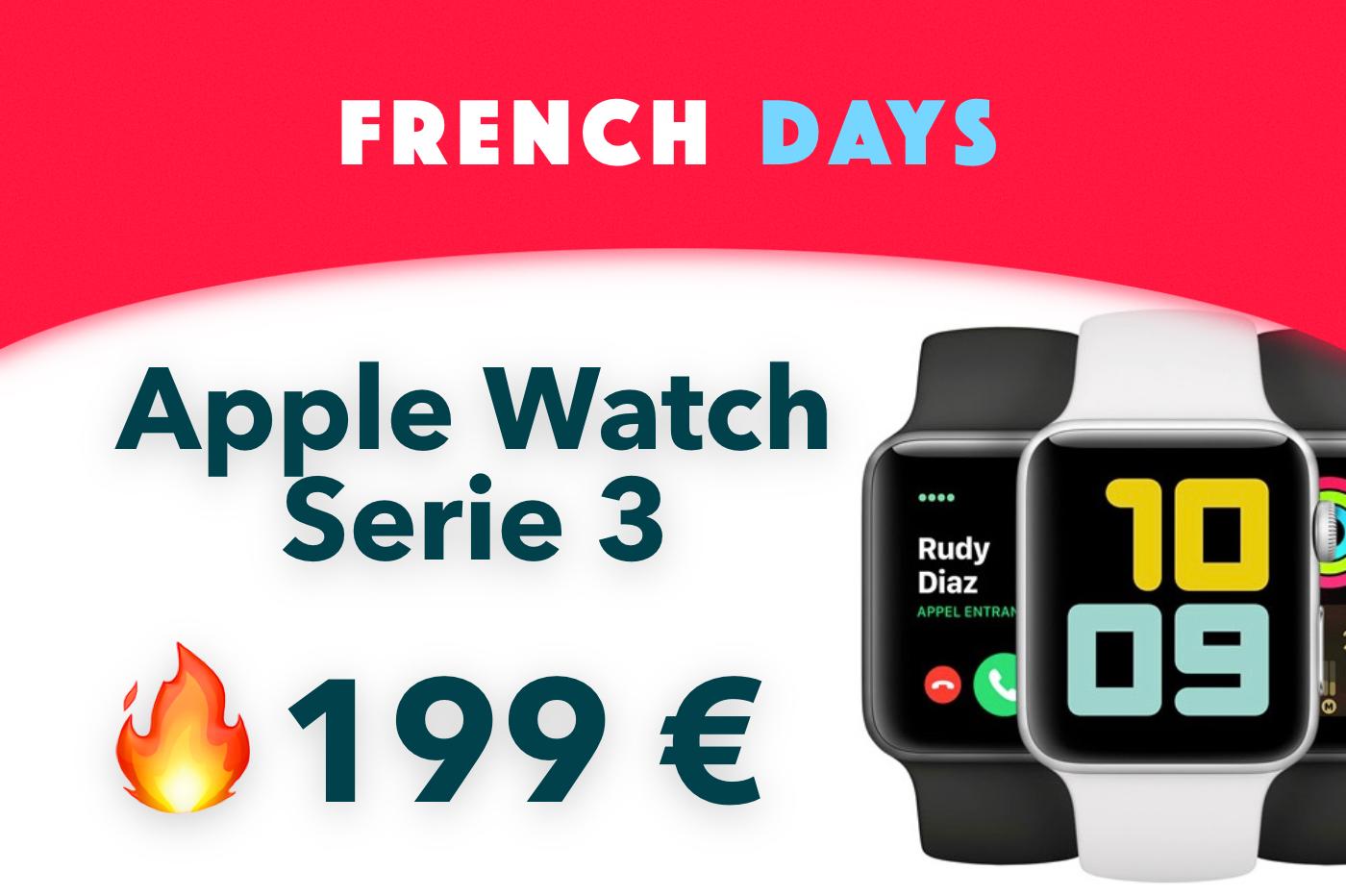 Bon plan Apple Watch Series 3 French Days