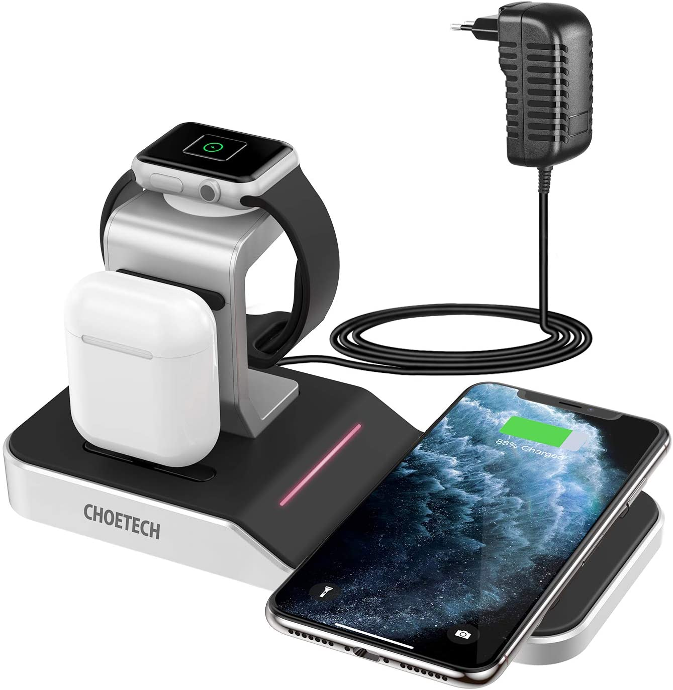 Chargeur sans fil induction Qi iPhone 11 Apple Watch AirPods