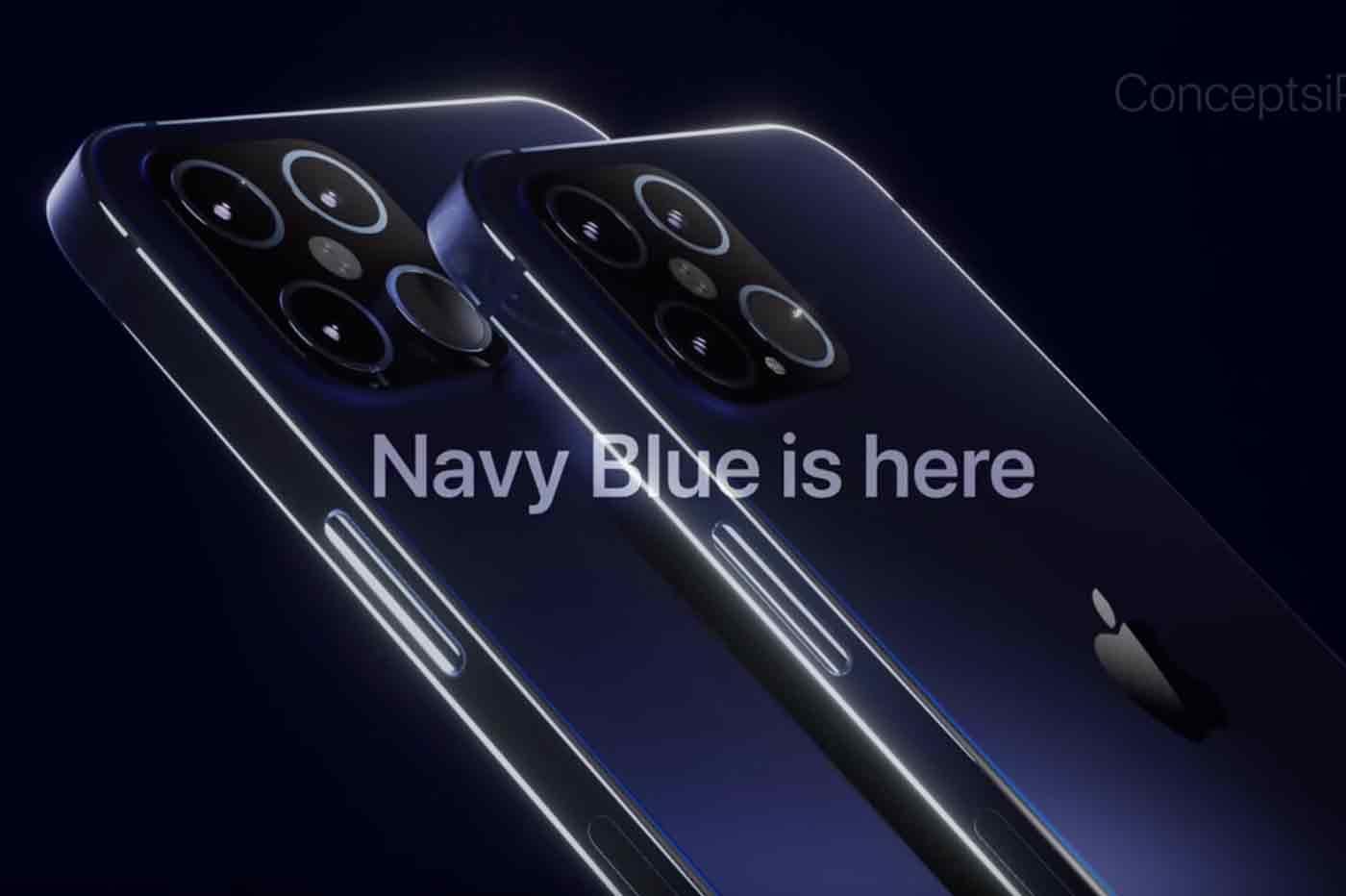 Bientôt un modèle d'iPhone 12 Pro bleu marine ?