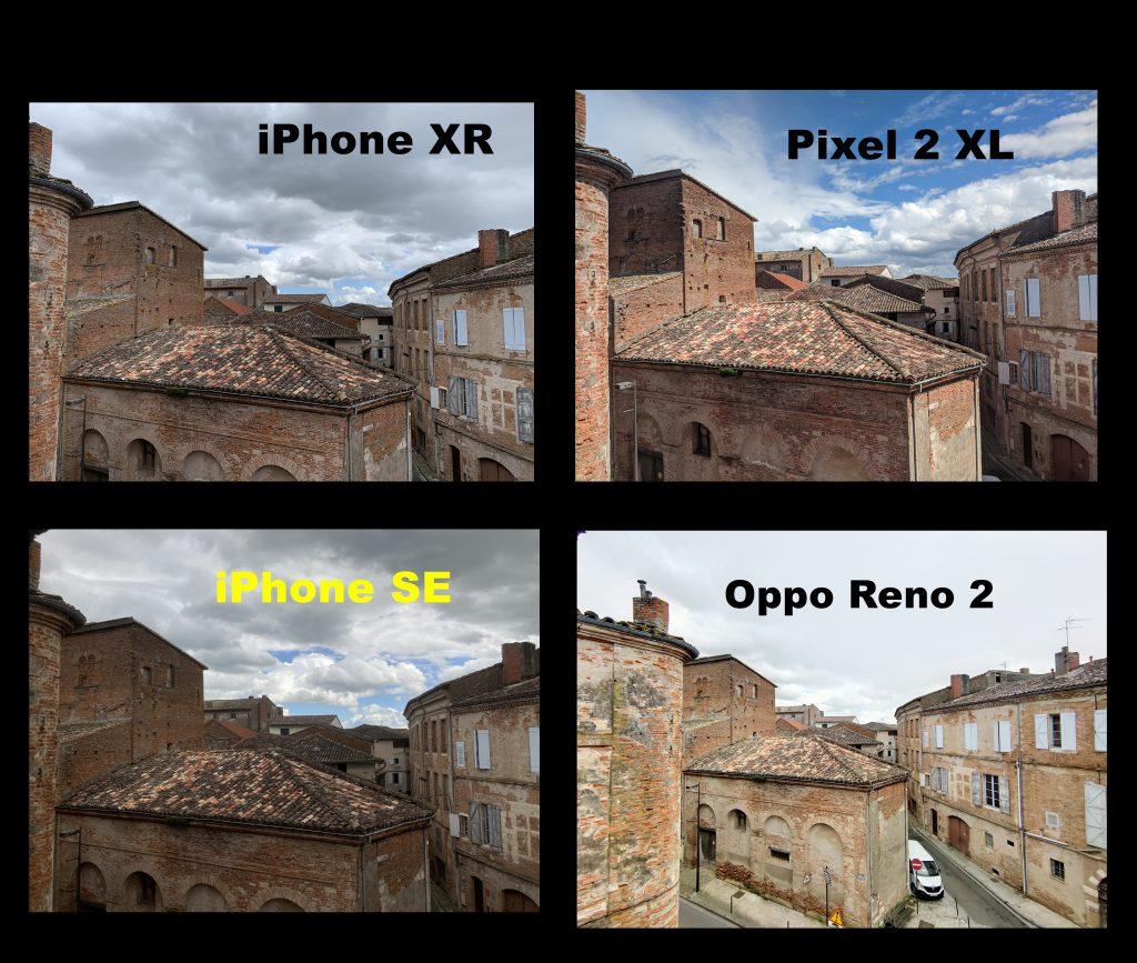 Comparatif Photo iPhone SE 2020