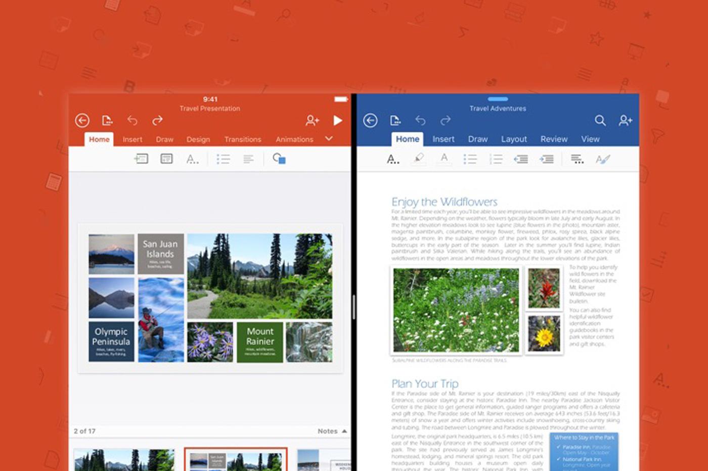PowerPoint Word iPad