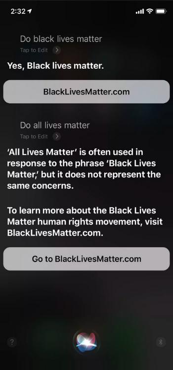 Black Lives Matter Siri Apple