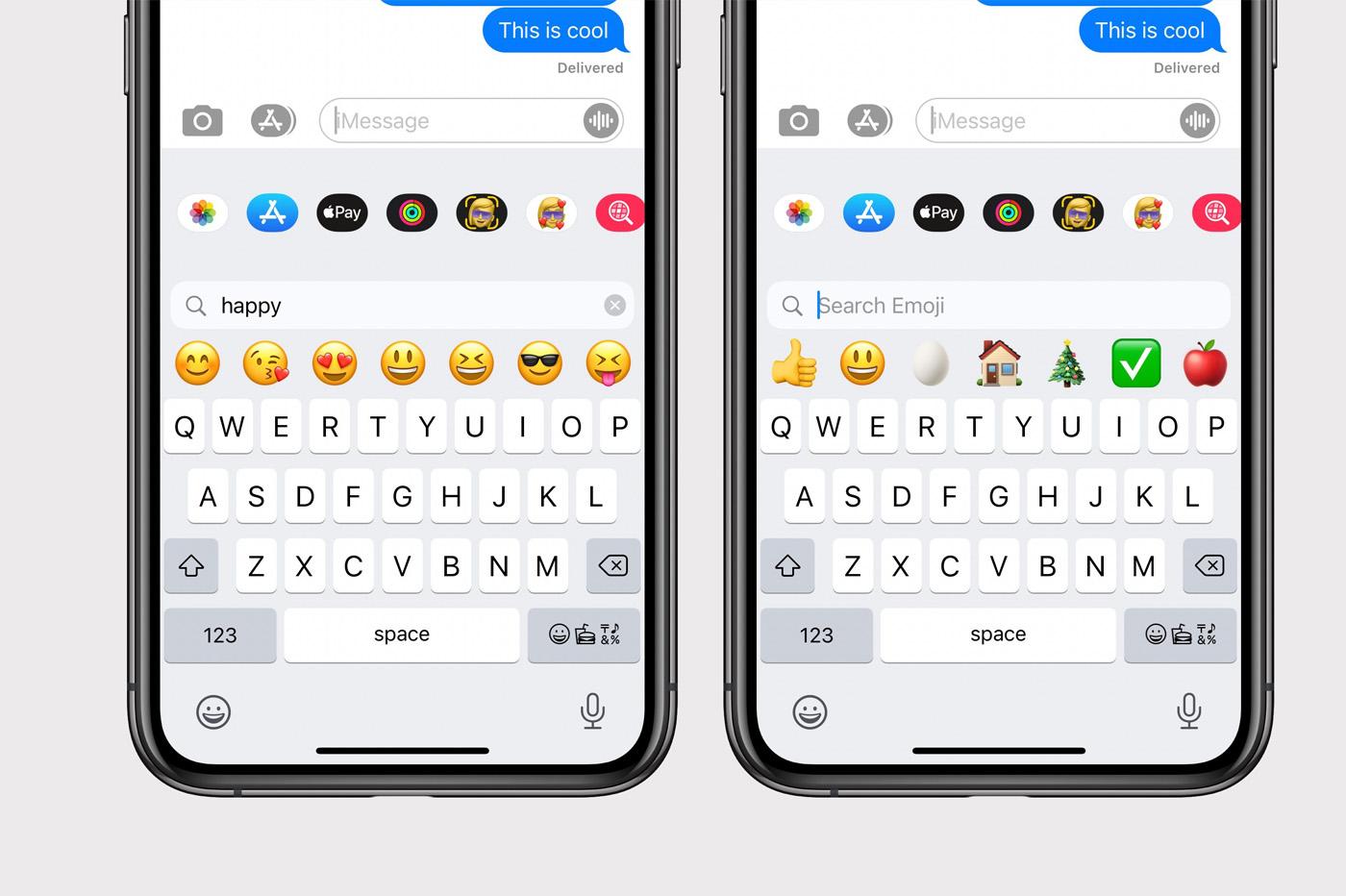 iOS 14 emoji recherche