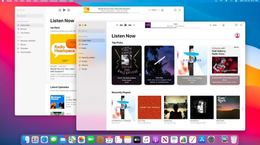 macOS Big Sur et design