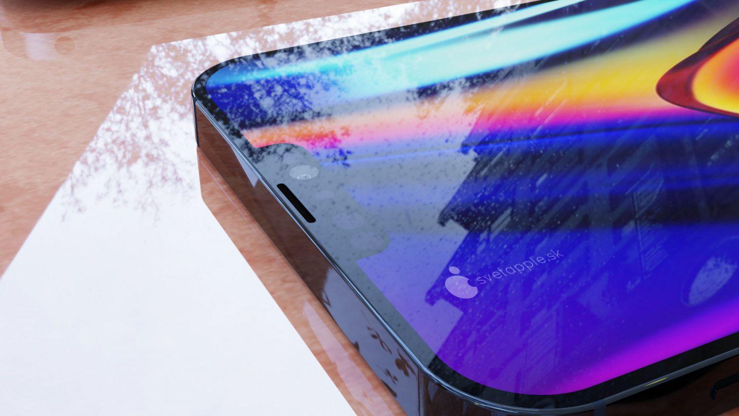 Maquette iPhone 12 bleue
