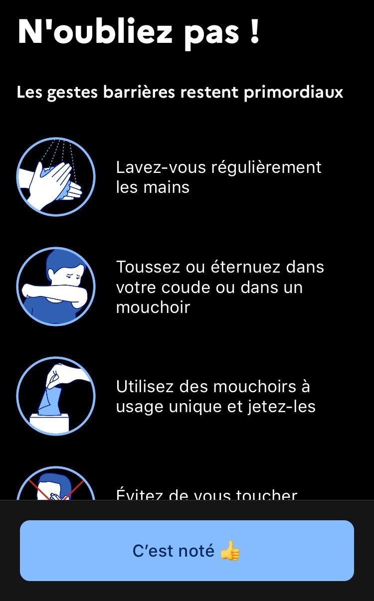 app iPhone StopCovid France