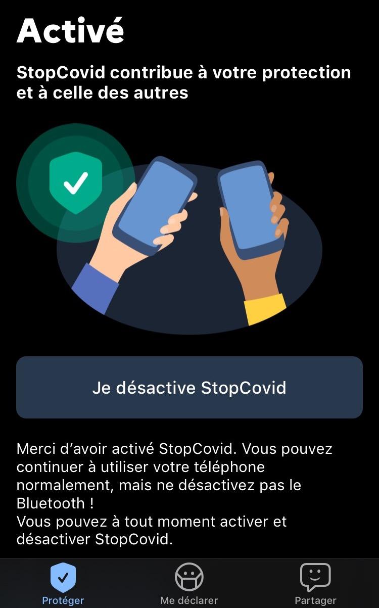 Activation StopCovid France