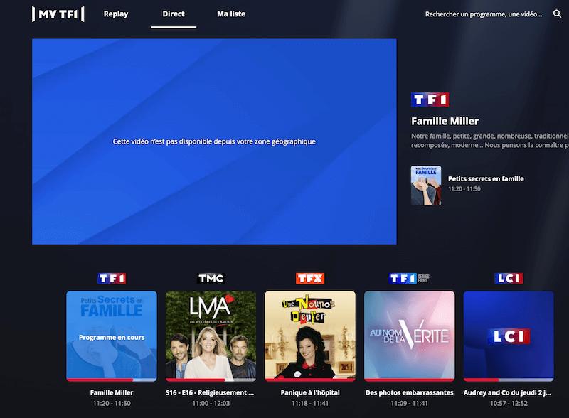TF1 bloquer etranger