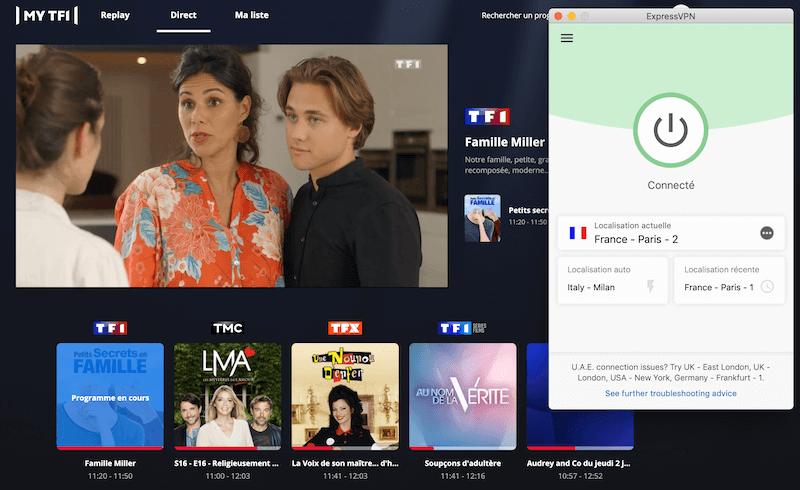 TF1 direct a letranger