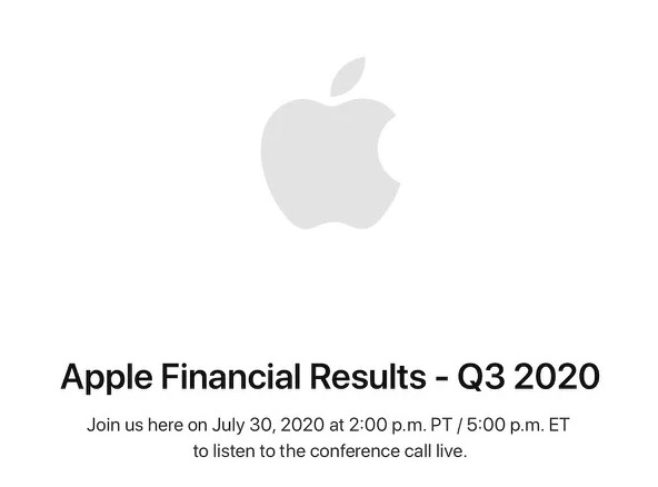 Résultats financiers Apple Q2 2020Résultats financiers Apple Q2 2020