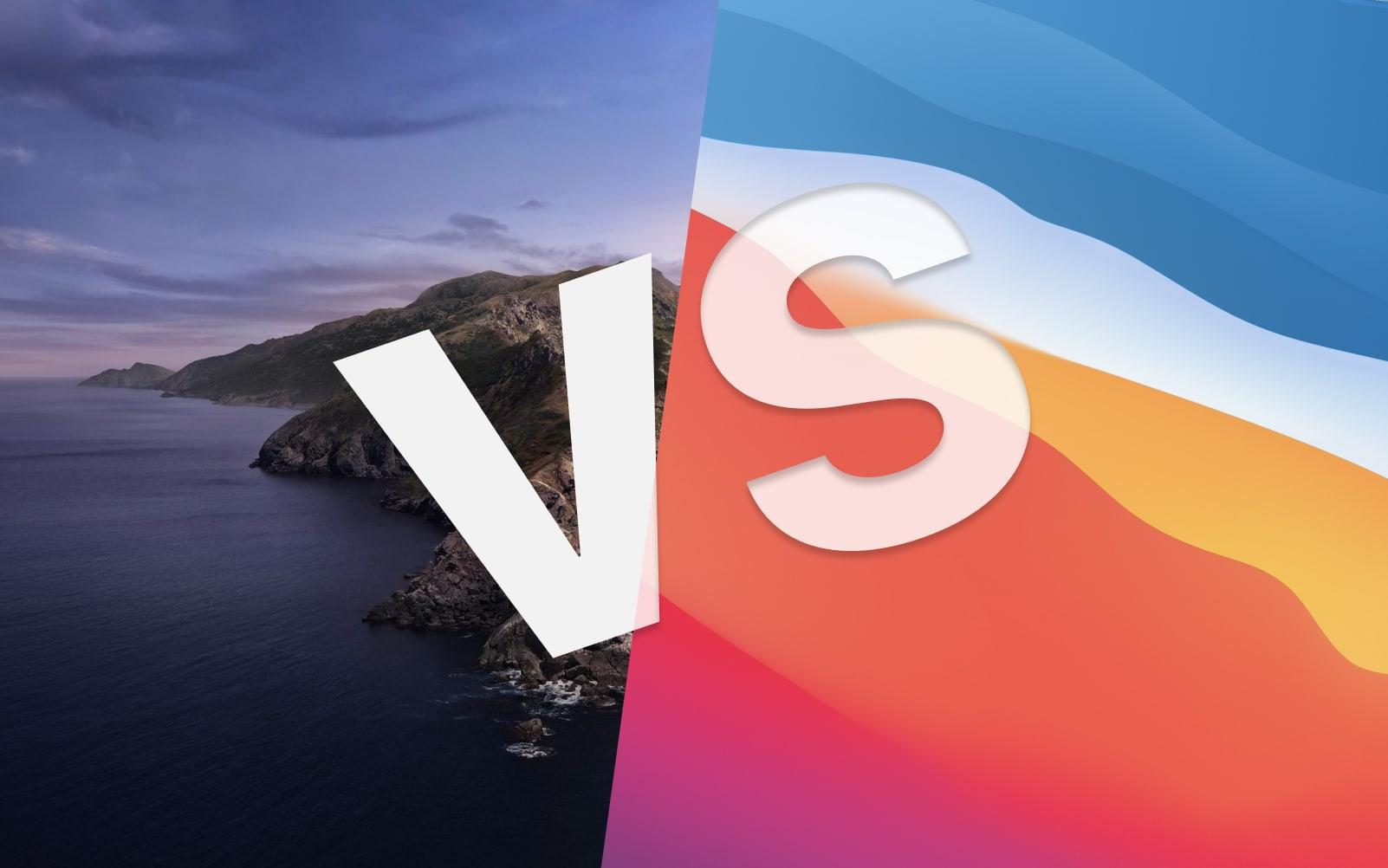 Big Sur vs Catalina