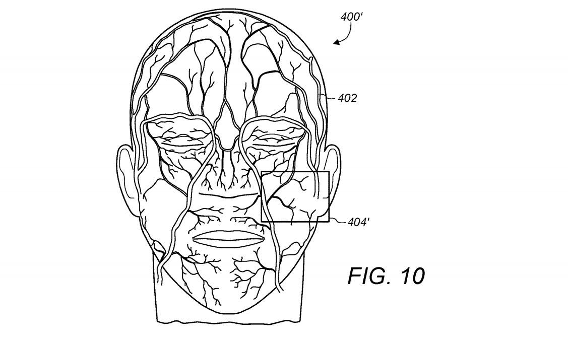 Face ID Apple veines