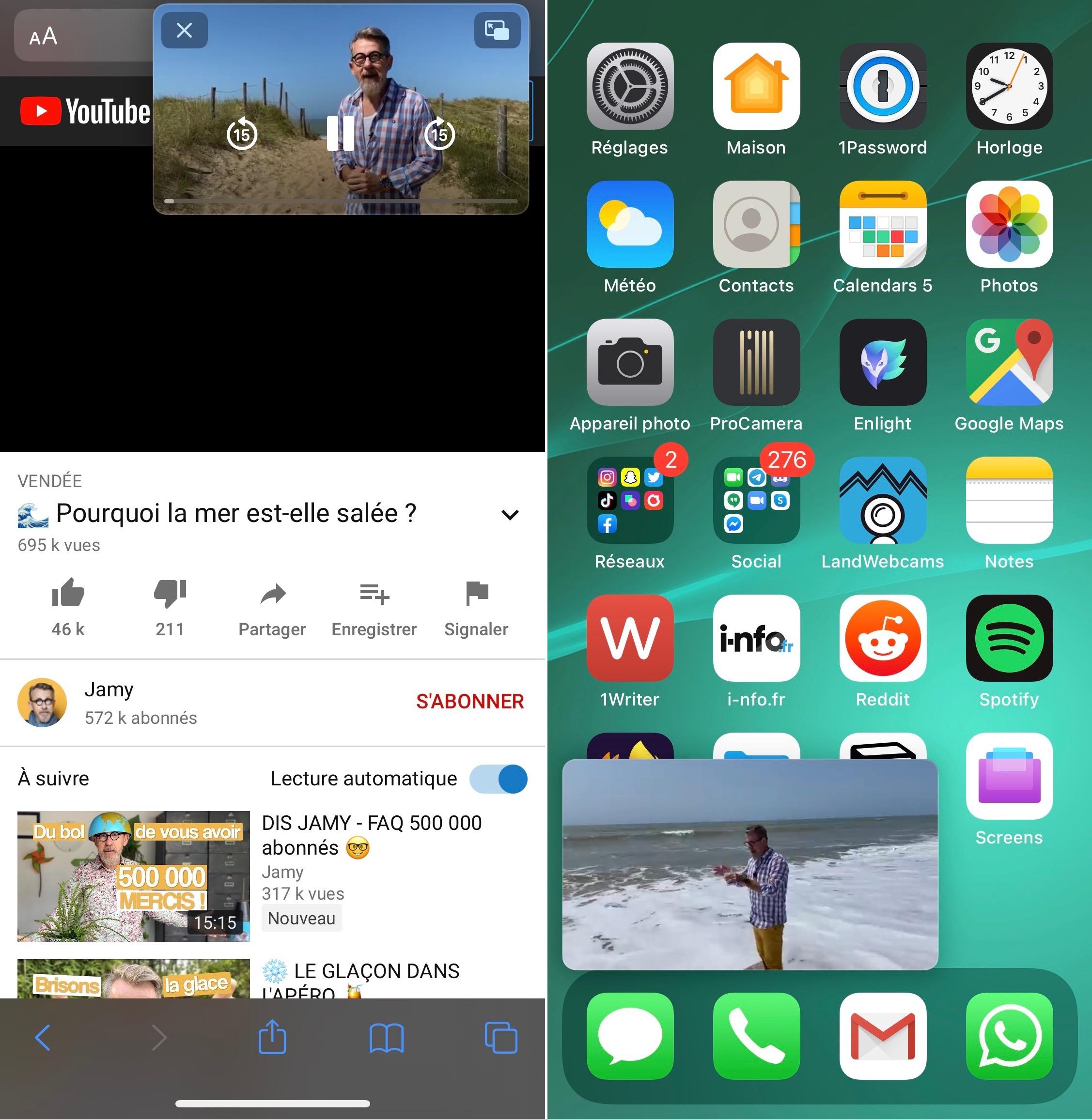 Image dans l'image sur iPhone