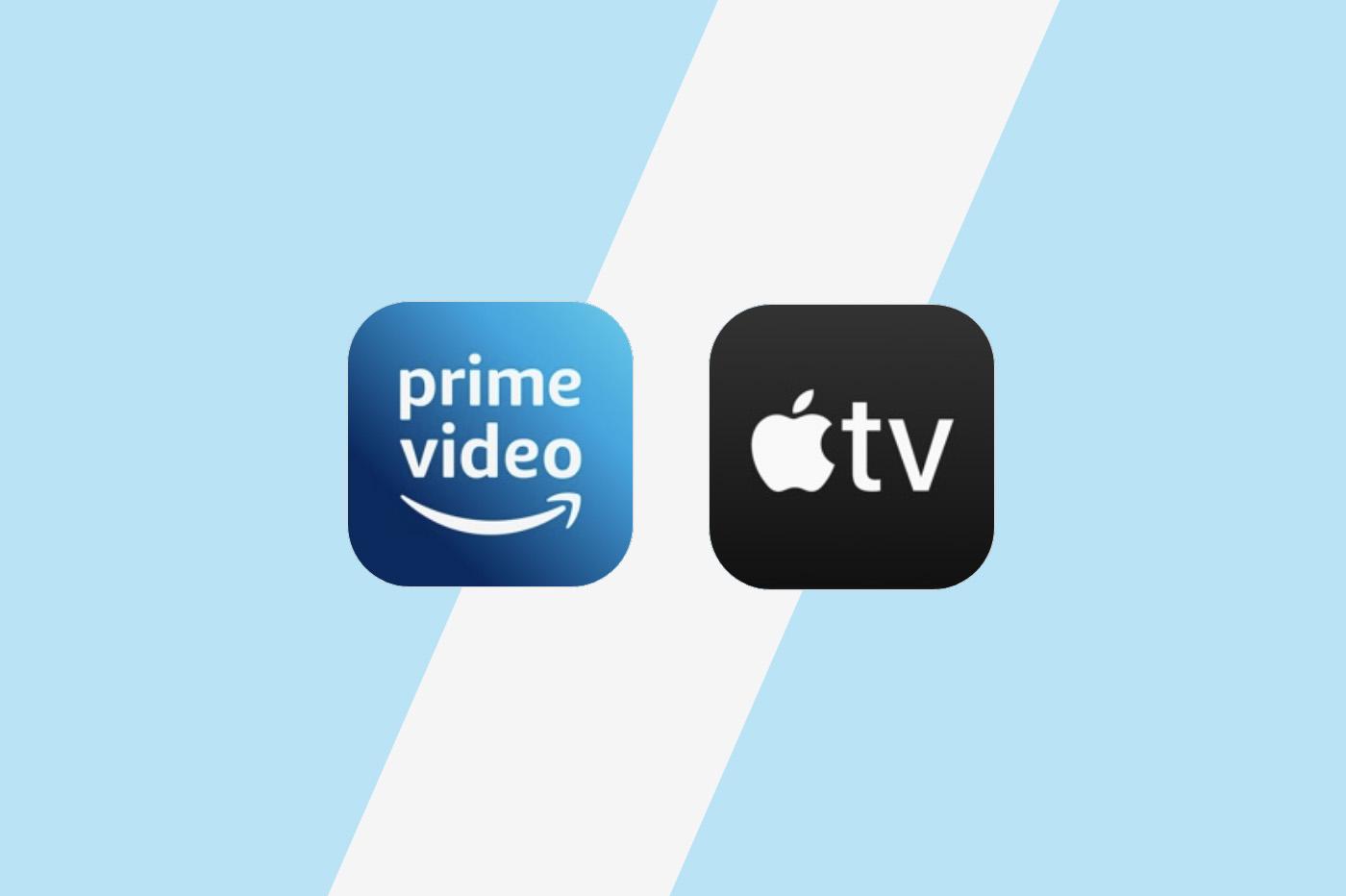 Comparatif Amazon prime Video vs Apple Tv+