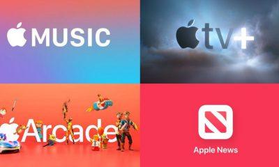 Les services Apple, Apple Music, Arcade, News et TV+