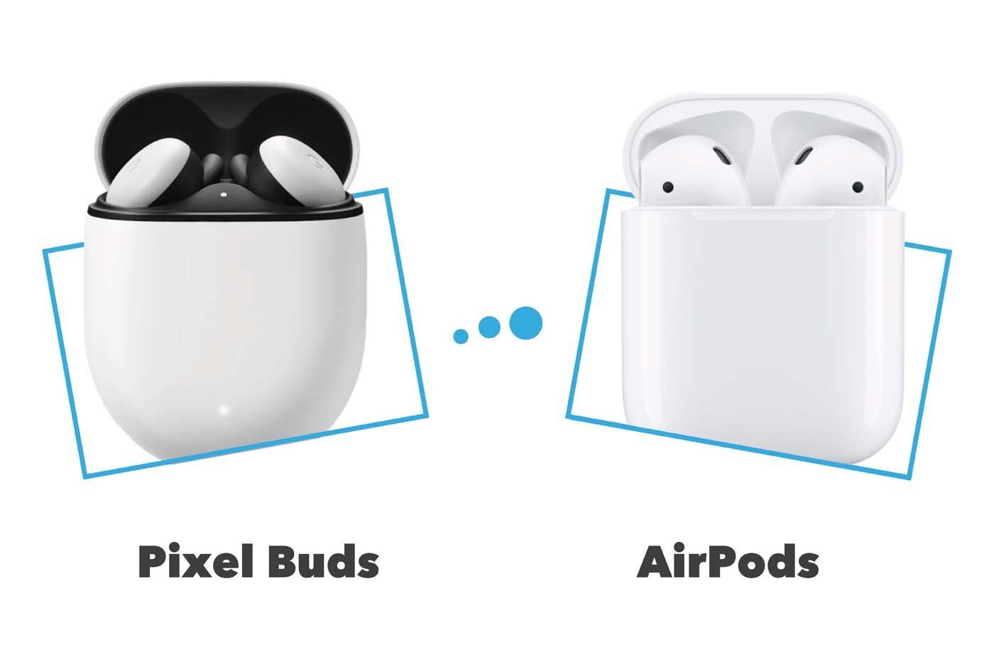 Comparatif Google Pixel Buds vs AirPods 2
