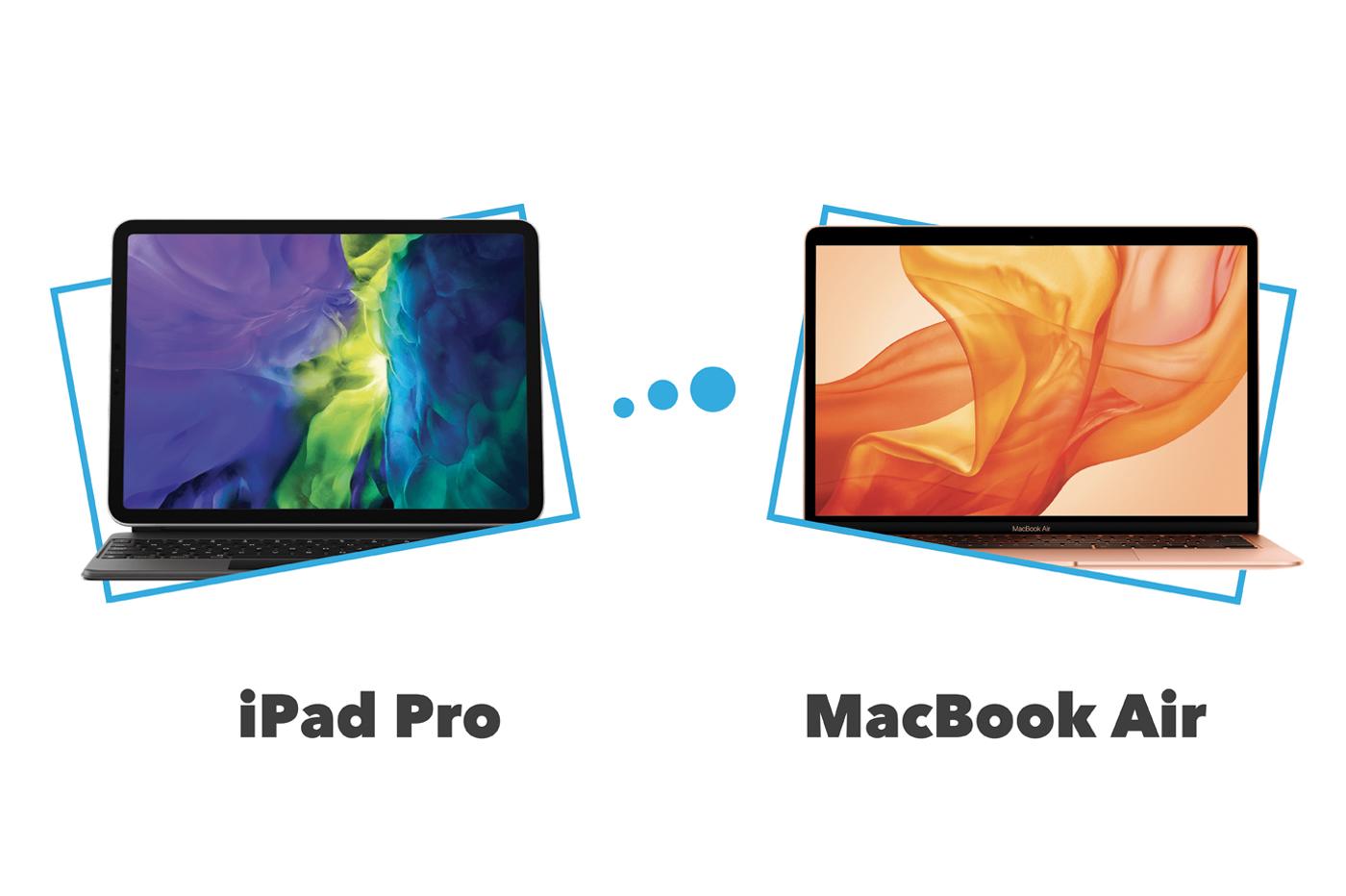 Comparatif et différences iPad Pro vs MacBook Air