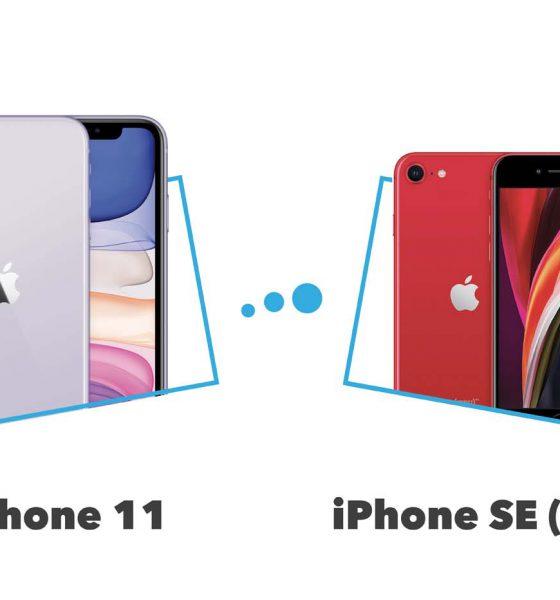 Comparatif iPhone SE (2020) vs iPhone 11