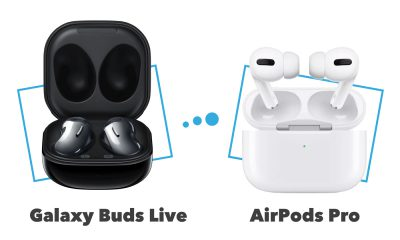 Comparatif Samsung Galaxy Buds Live vs AirPods Pro