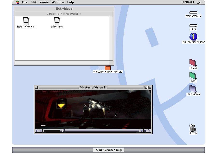 macOS 8 émulateur Mac