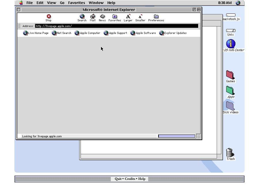 macOS 8 sur Mac