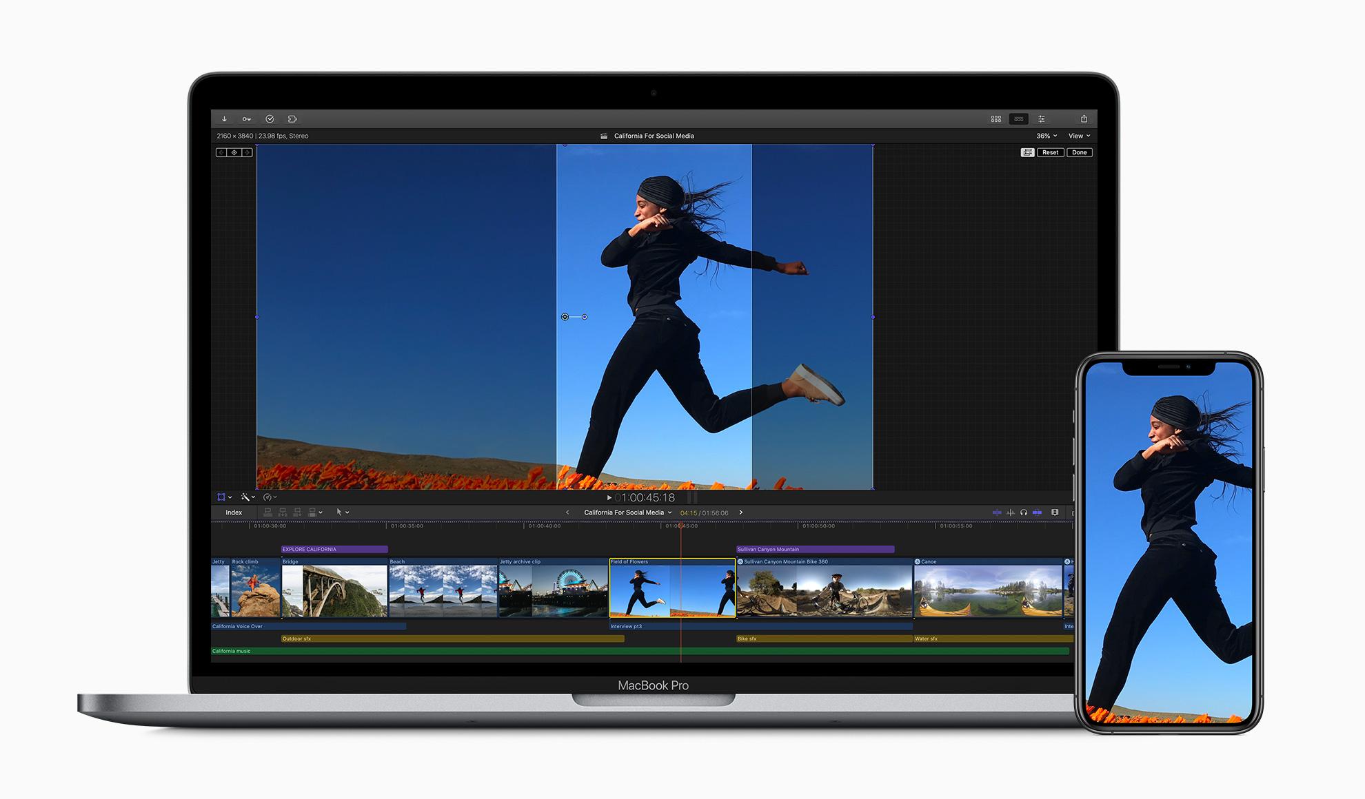 Apple Final Cut Pro X et réseaux sociaux