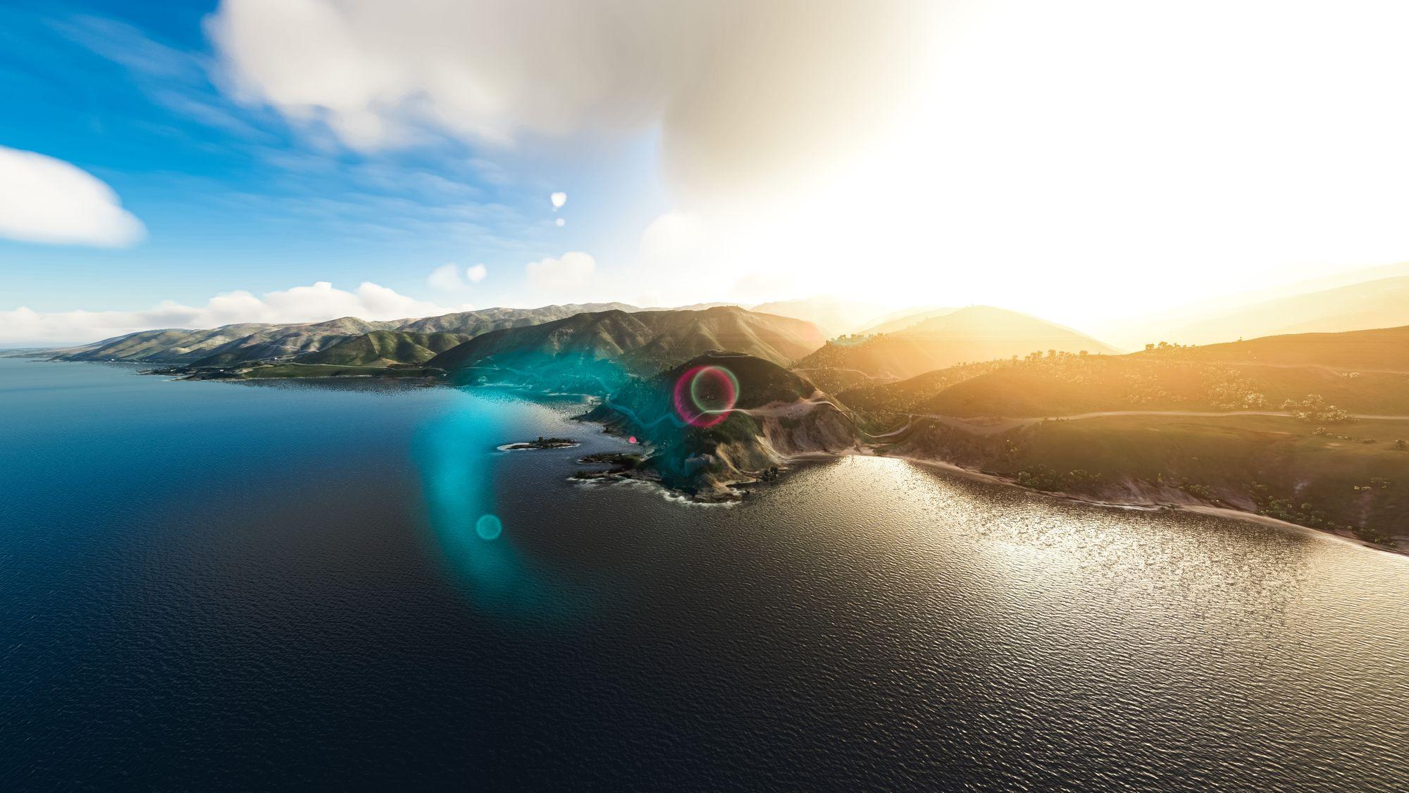 Microsoft Flight Simulator macOS Big Sur fond d'écran