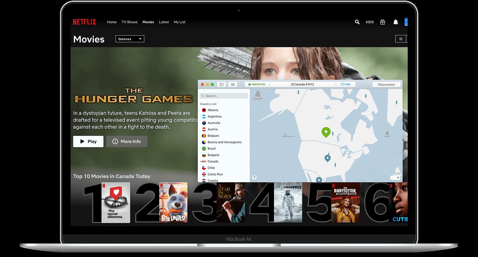 Netflix Canada NordVPN