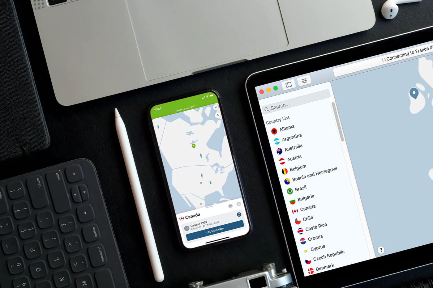 NordVPN appareils compatibles
