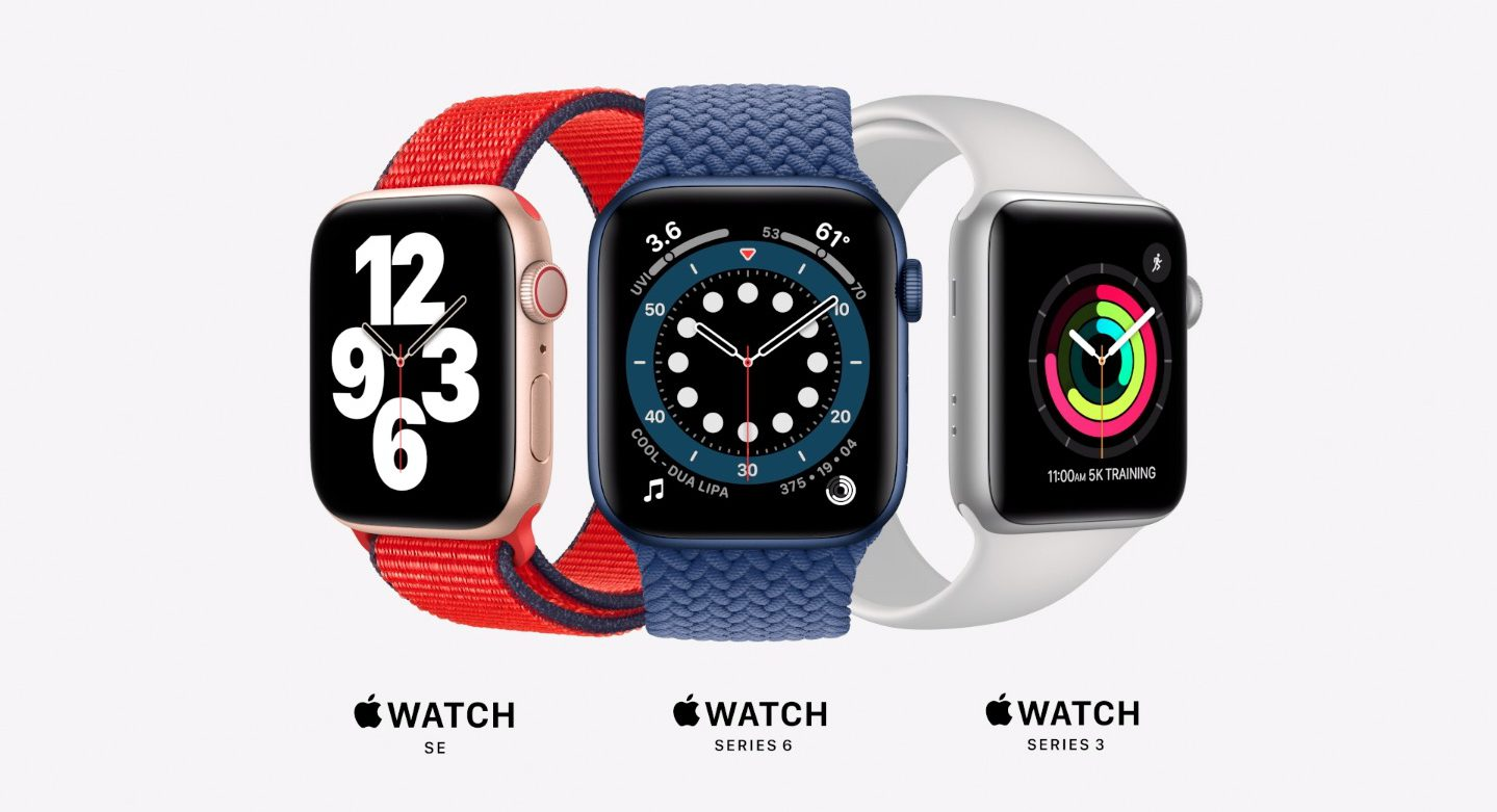 Apple Watch gamme 2020