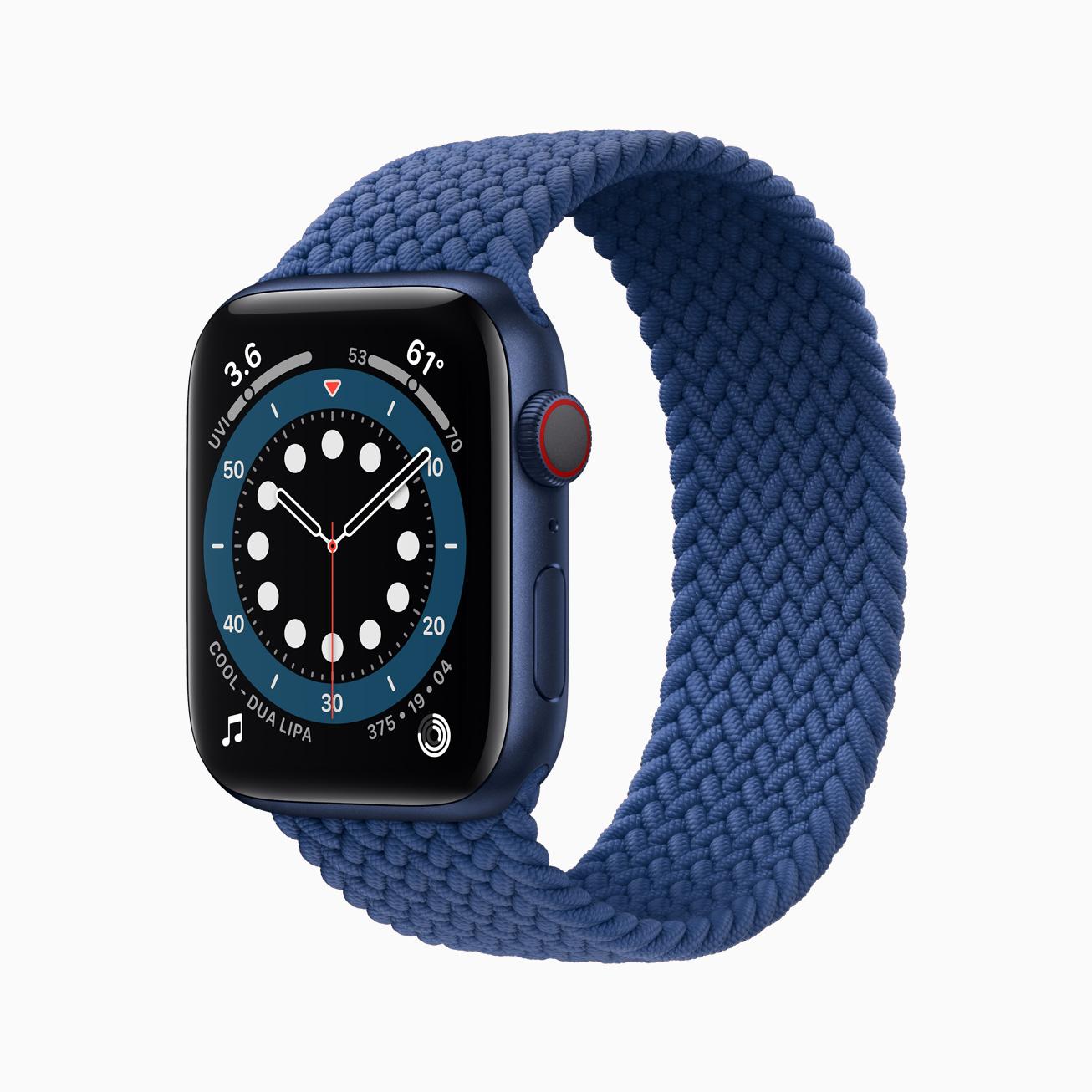 Apple Watch Series 6 bleue