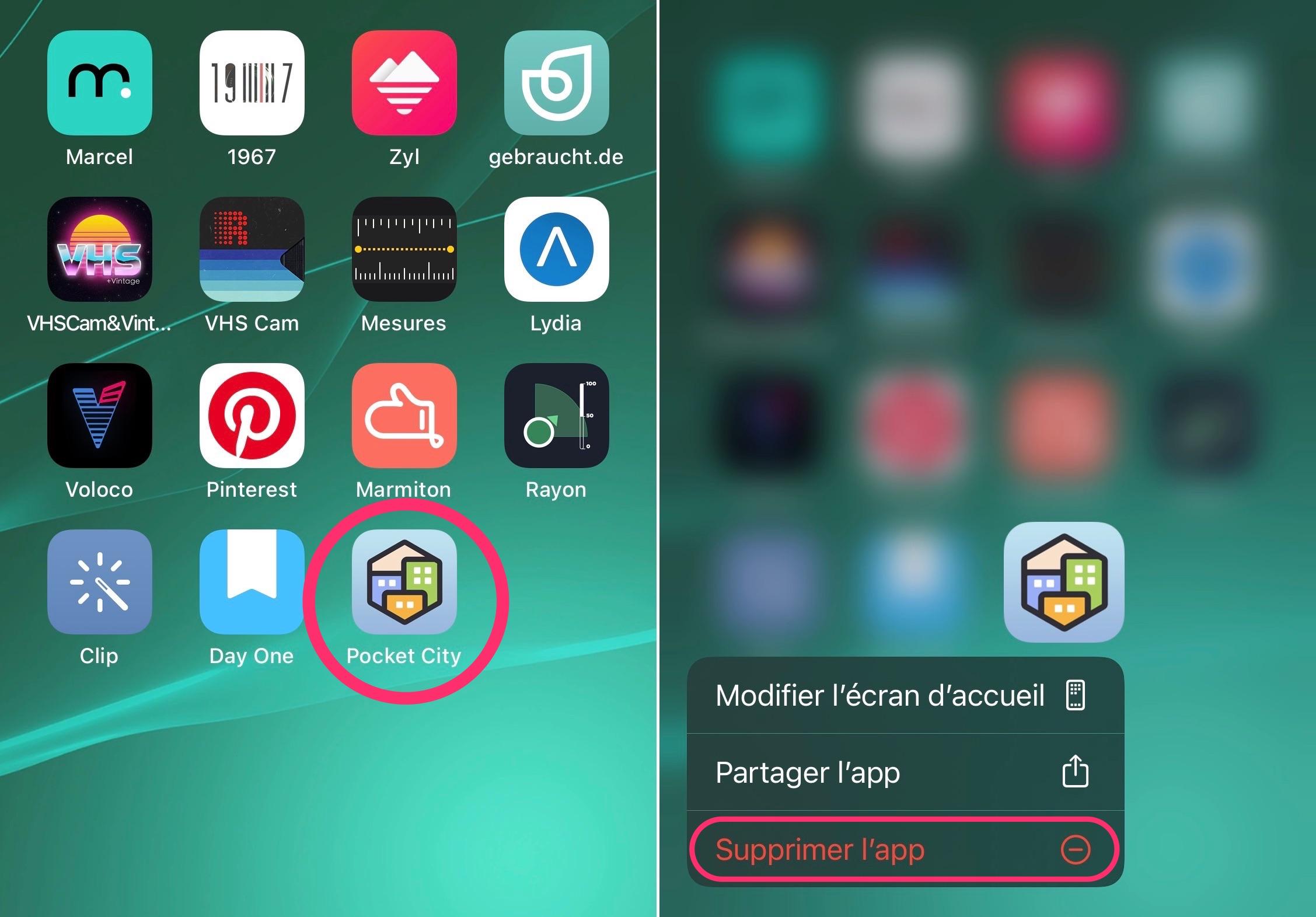 Mettre app bibliothèque d'apps