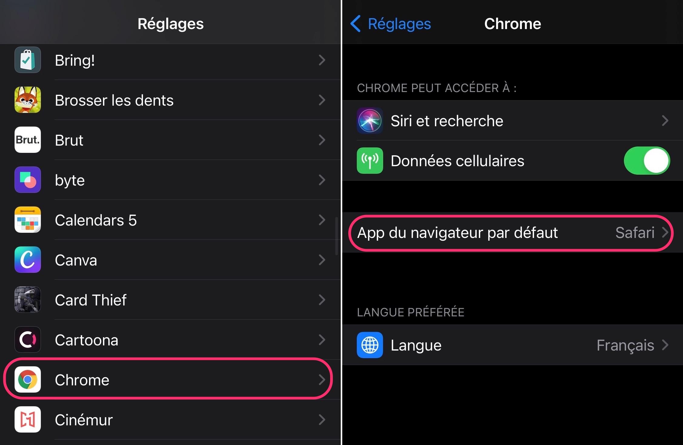 Comment choisir le navigateur par défaut sur iPhone et iPad