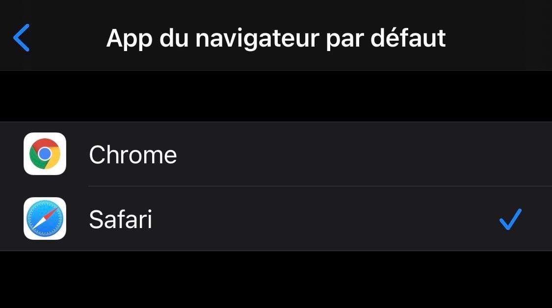 choisir le navigateur par défaut sur iPhone et iPad